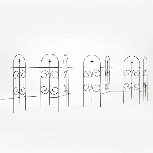 Decorative Fences - Amagabeli 32 by 115 Rustproof Black Metal Garden ...