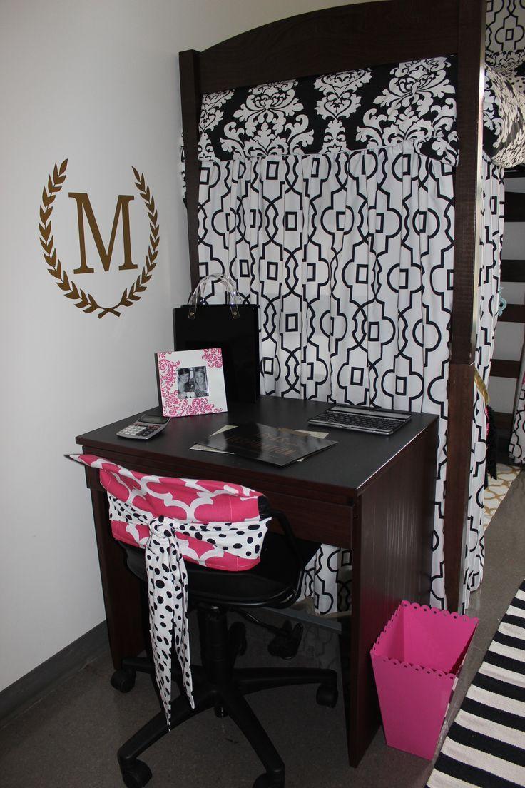 Dorm Room Furniture: Lofted Dorm Bed Idea Custom Chair Bling. Design Your Own