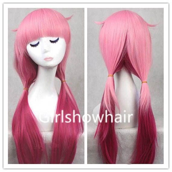 65 Cm Pink Japanese Harajuku Guilty Crown Anime Wigs Hair Straight Hair Pony Hair Extension Anime Cosplay Wigs 503t Kawaii Wigs Cosplay Hair Anime Wigs