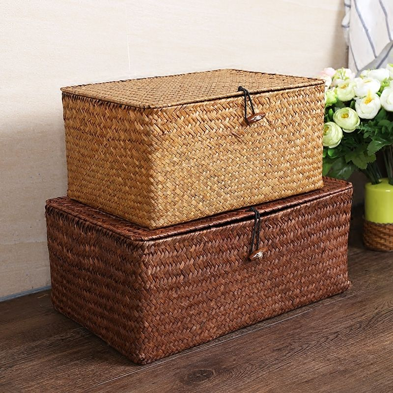 Find More Storage Baskets Information About Manual Straw Woven Storage Basket Lid Debris Consol Storage Baskets With Lids Storage Baskets Woven Baskets Storage