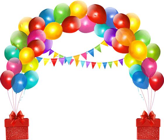 Ballons png tube ballon arche ballon image anniversaire - Decoration de grand vase transparent ...