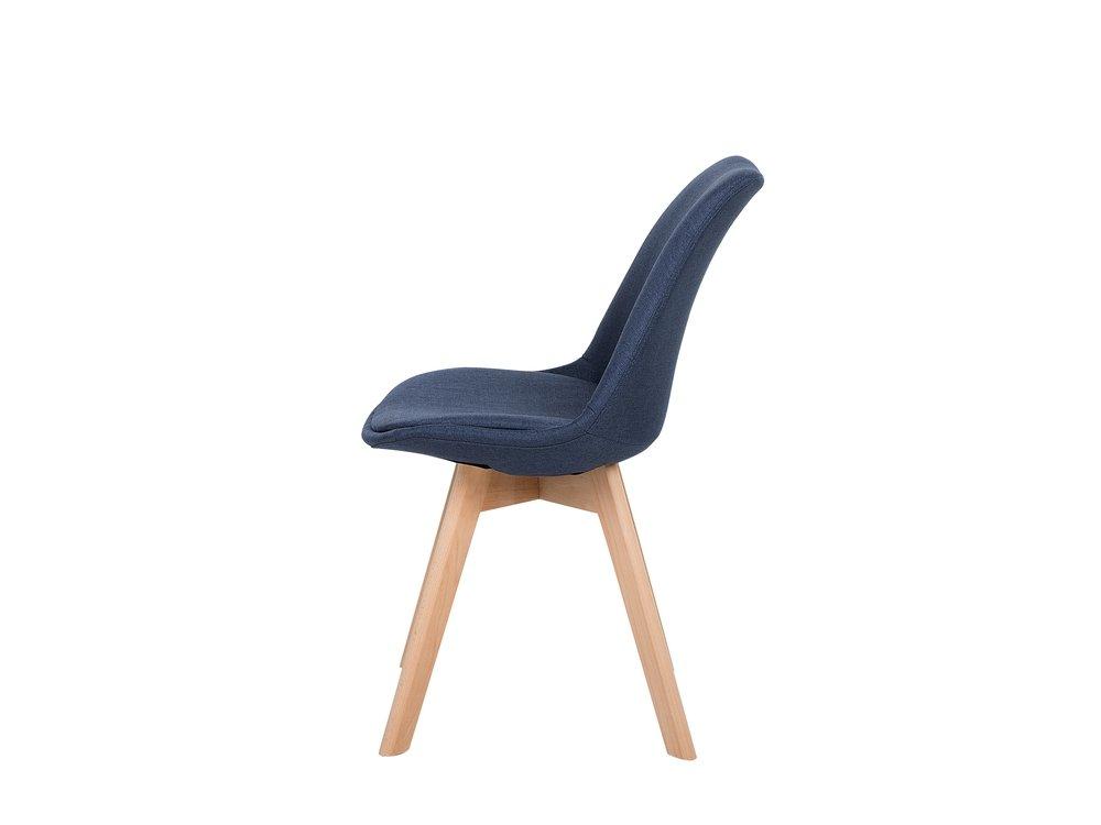Lot de 2 chaises en tissu bleu foncé DAKOTA II en 2020
