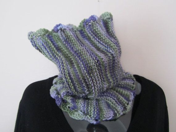 Freash Lilac Knitted Cowl  Knitted Scarf  Knitted by Madebyfate, $20.00