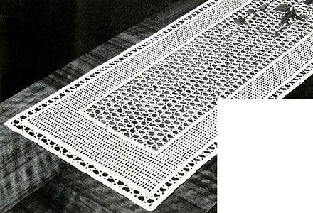 Lacet Table Runner crochet pattern originally published in Crochet ...