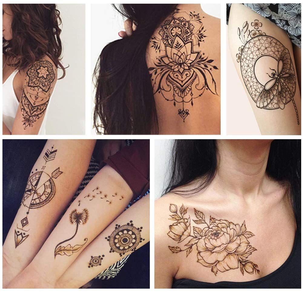 Henna tattoo applicator bottles temporary tattoos kit body