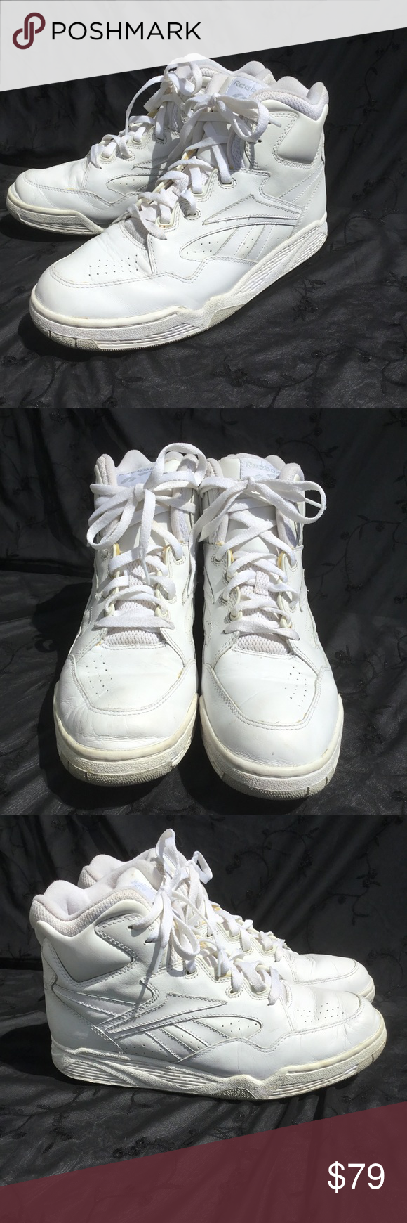 9361edccf7432 Vintage retro reebok men s high tops Sz 10 Reebok vintage white mens  athletic high top shoes size 10. Great condition. Reebok Shoes Athletic  Shoes