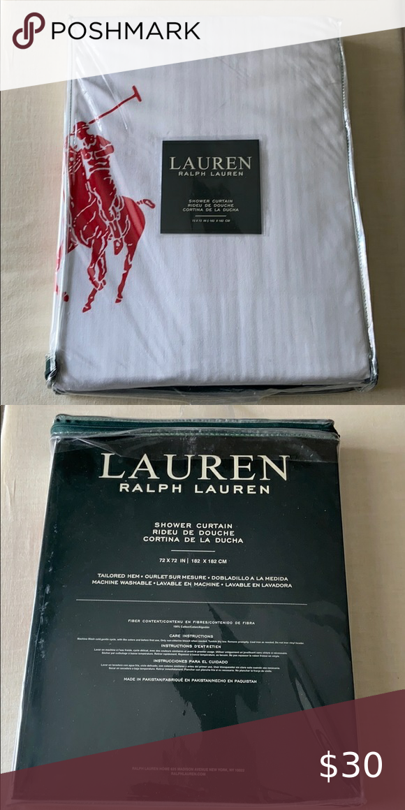 Ralph Lauren Polo Shower Curtain In 2020 Lauren Polo Ralph
