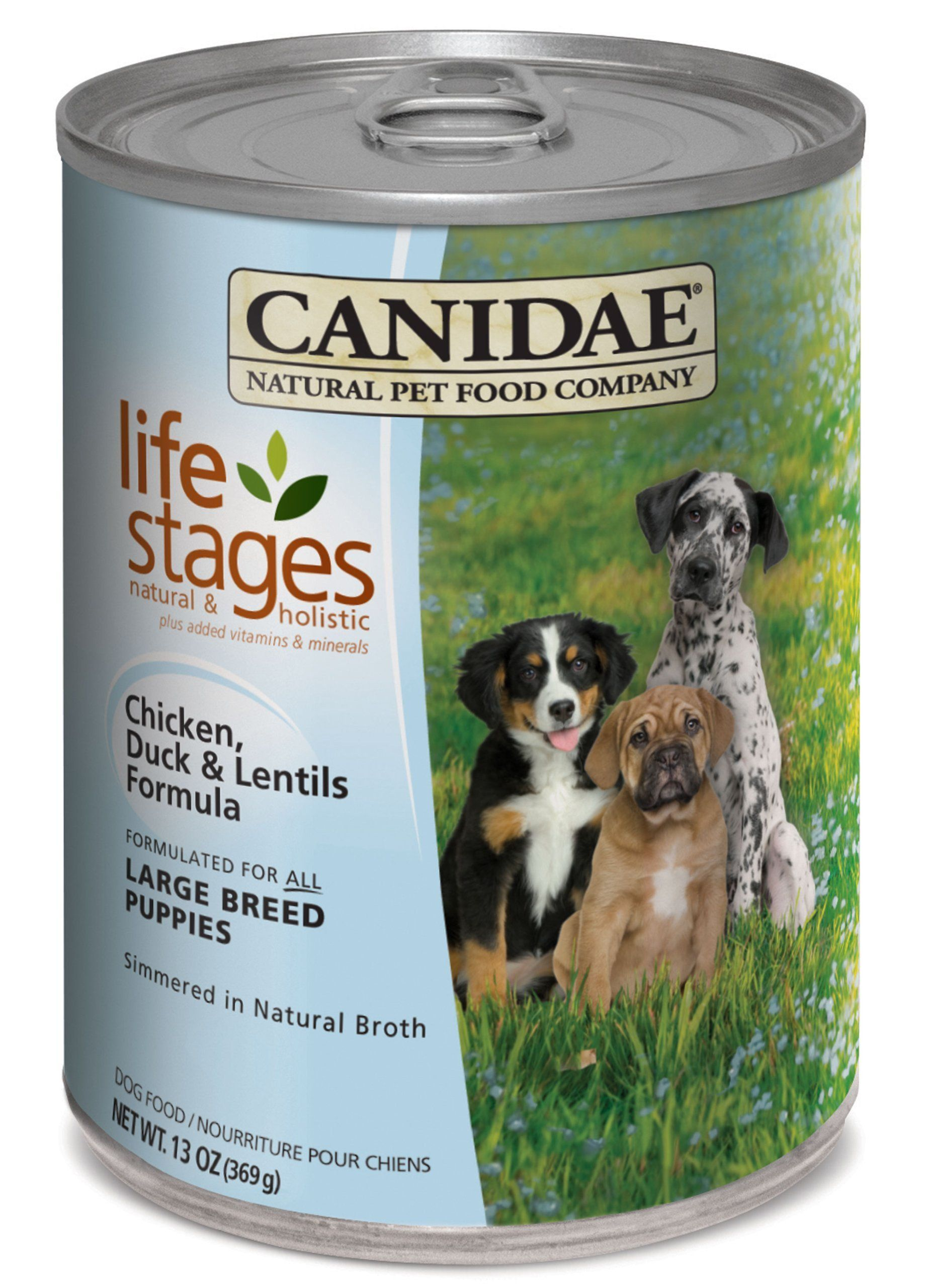 Canidaelife stages canned dog food for puppies adults