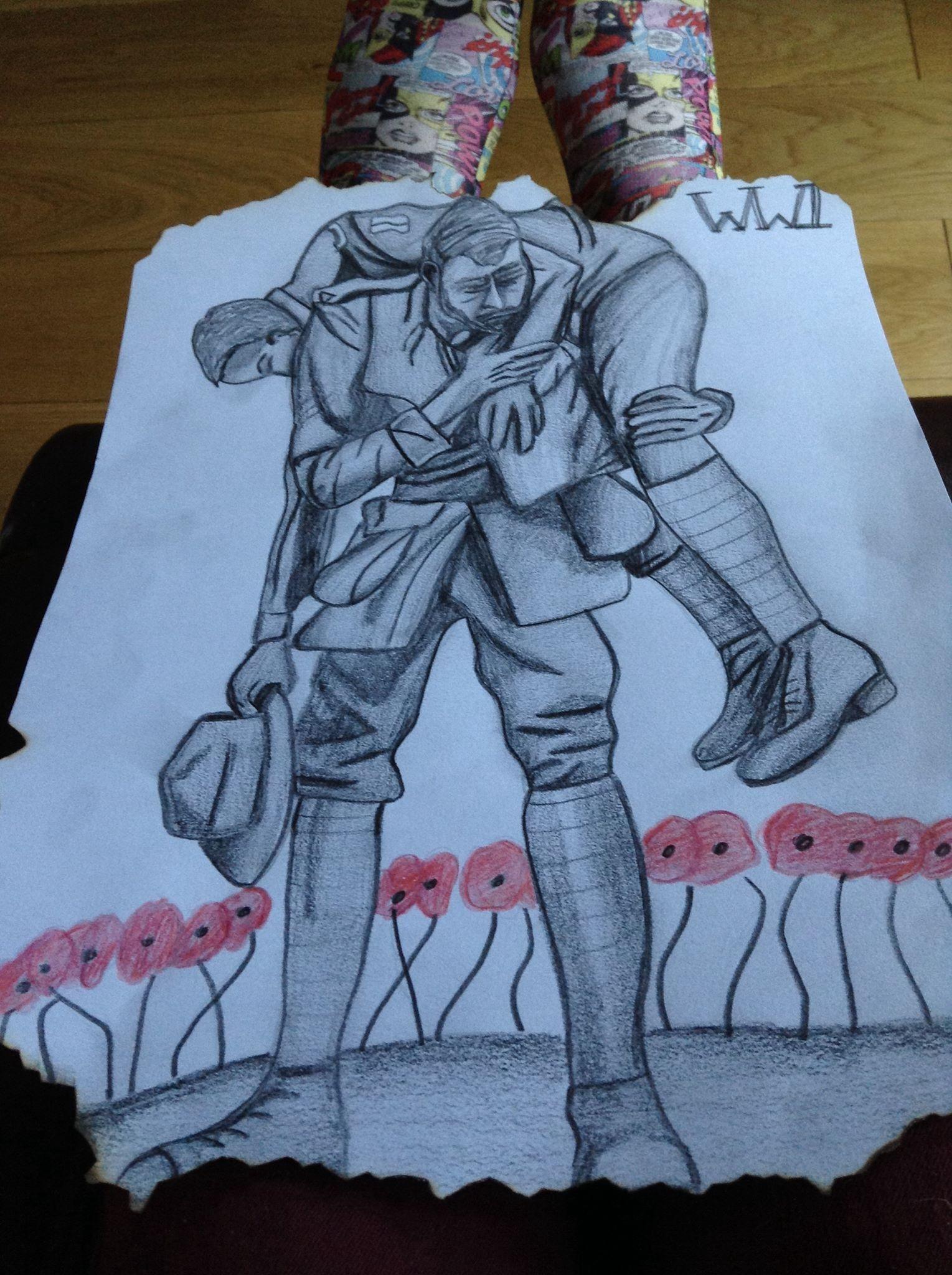 Work war based drawing