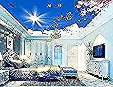 3d papier peint nature Fleur ciel plafond 3d papier peint moderne pour salon peintures murales plafond Décoration de La Maison dans Fonds décran de Am&eacut...