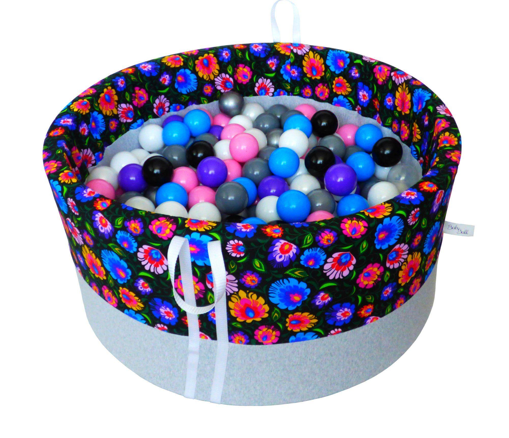 The Babyball Plastic Ball Pool 200 Szt Suchy Basenik Z Pileczkami Dla Dzieci Babyball 90x40 Cm Handmade Learning Colors Baby Ball Ball