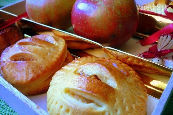 Jablkové koláčiky s karamelom (fotorecept)