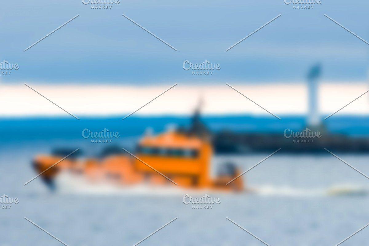 Photo of Pilot boat – blurred image #Sponsored , #Sponsored, #soft#lens#Rescue#ship