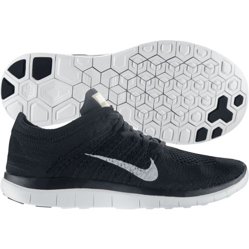 903a8f1ca7b1c Nike Womens Free 4.0 Flyknit Running Shoes White Black 631050 001 ...