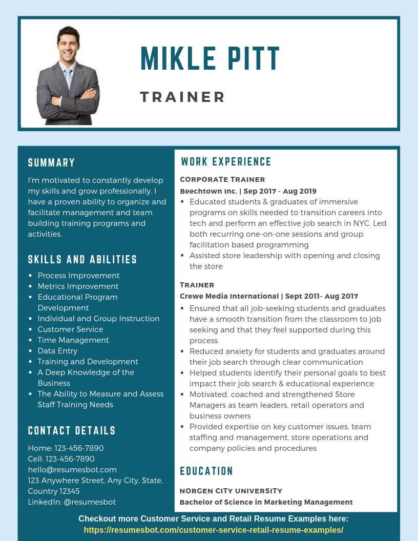 50++ Training manager resume pdf ideas in 2021