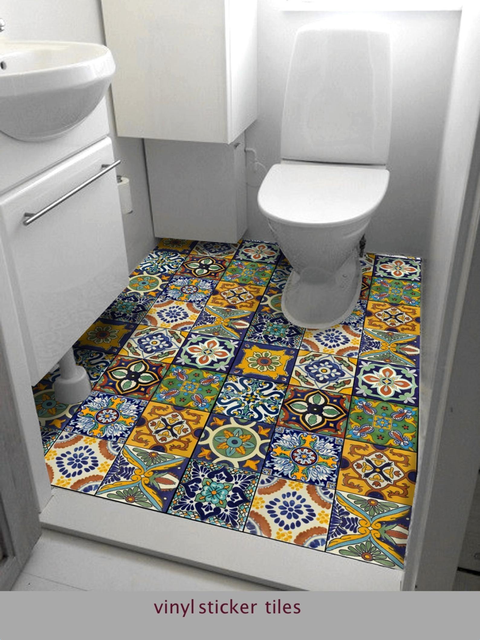 Vinyle Adhésif Pour Sol tile stickers vinyl decal waterproof removable for kitchen