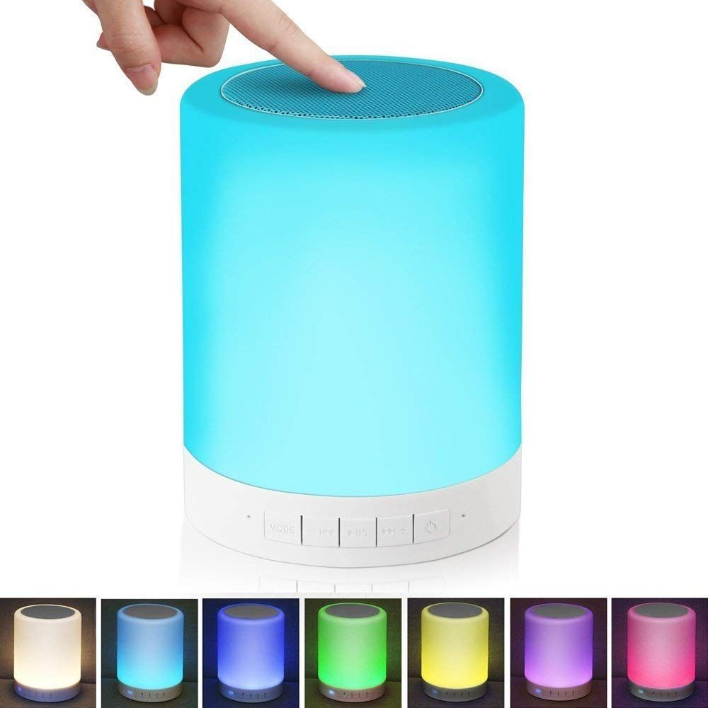 Alenbrathy Bedside Lamp With Wireless Bluetooth Speakers Touch Dimmable Table Lamp Night Lig Bluetooth Speakers Portable Wireless Speakers Bluetooth Touch Lamp
