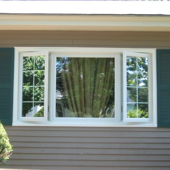 Newpro Picture Window With Side Casement Windows. Shown