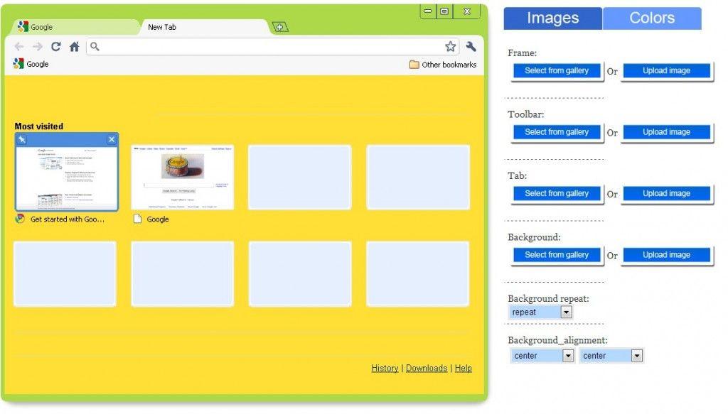 Google Chrome Theme Maker - ChromeThemeMaker com   Chrome