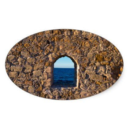 Window to the Aegean Sea Oval Sticker | Zazzle.com #aegeansea