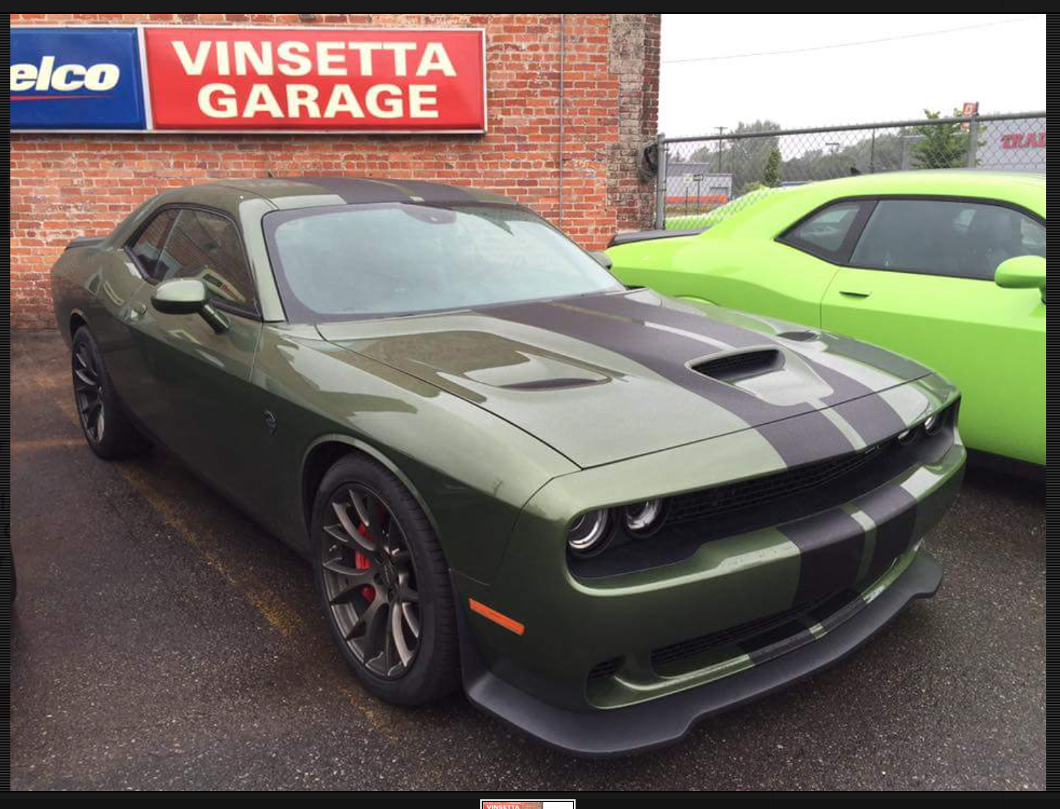 Green car paint colors - Hellcat Challenger With Wild New Green Paint Color At Vinsetta S Garage During 2016 Woodward Cruise