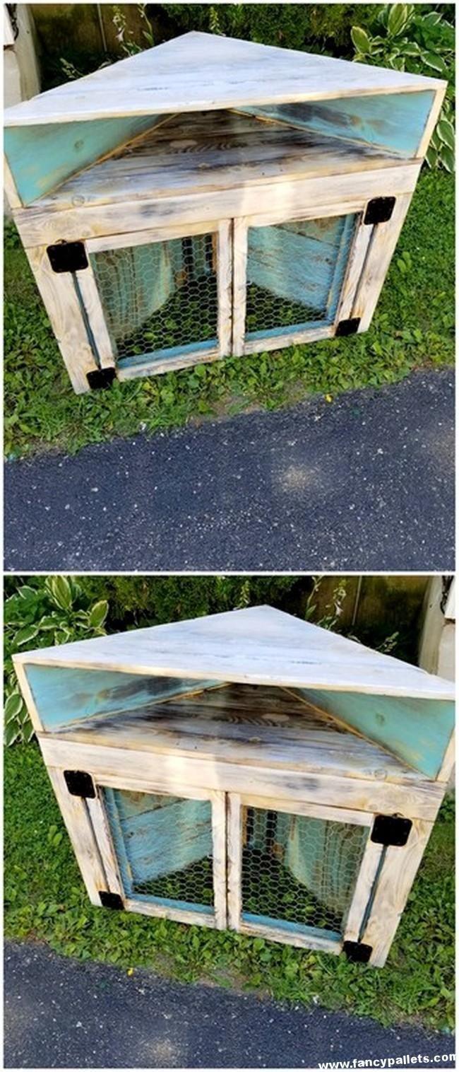 Diy Pallets Corner Cabinet (With images) | Pallet diy ...