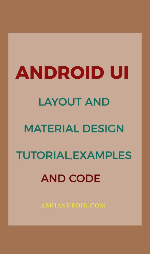 Android UI designing can be done either in XML or programmatically