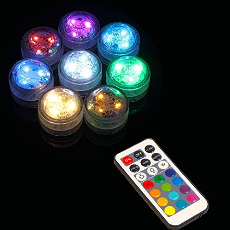 Submersible LED Tea Lights, AceList Set of 10 RGB Remote