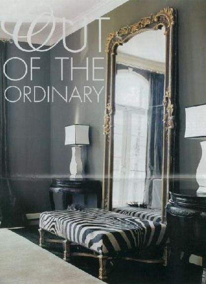 Eliware Lovely Little Nook Rococo Mirror Zebra Bench