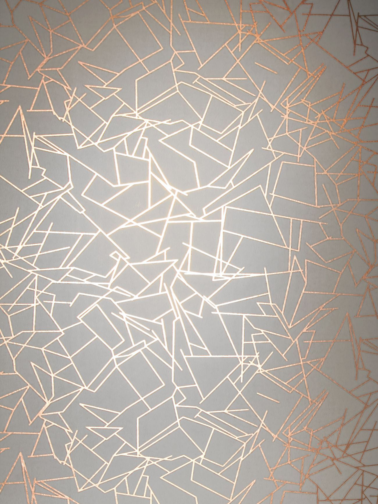 angles copper rose white wallpaper by erica wakerly wallpaper