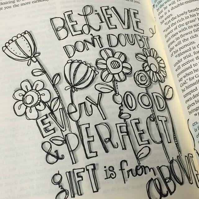 Doubt Your Doubts And Believe Beliefs Illustratedfaith Doodletheword Biblejournaling Coffeedoodlesprayers