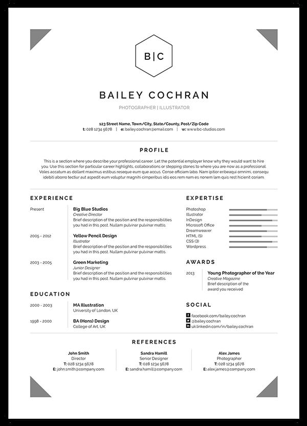 Resume Cv Bailey On Behance Formal Business Letter Format Business Letter Format Formal Business Letter