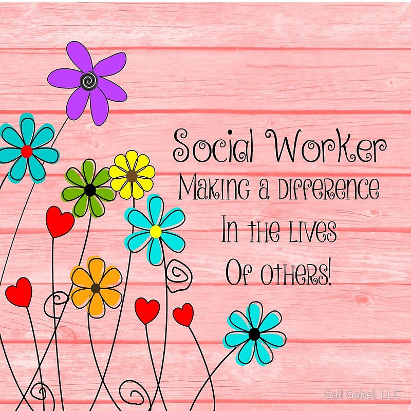 'Social Worker Appreciation' Clock by Gail Gabel, LLC