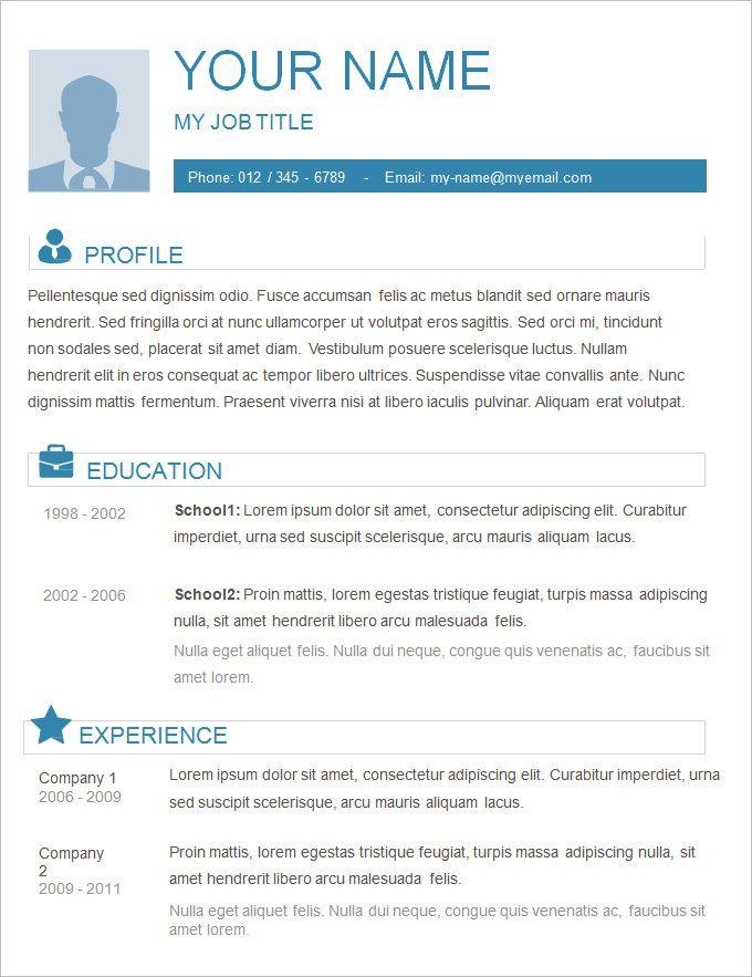 70  basic resume templates