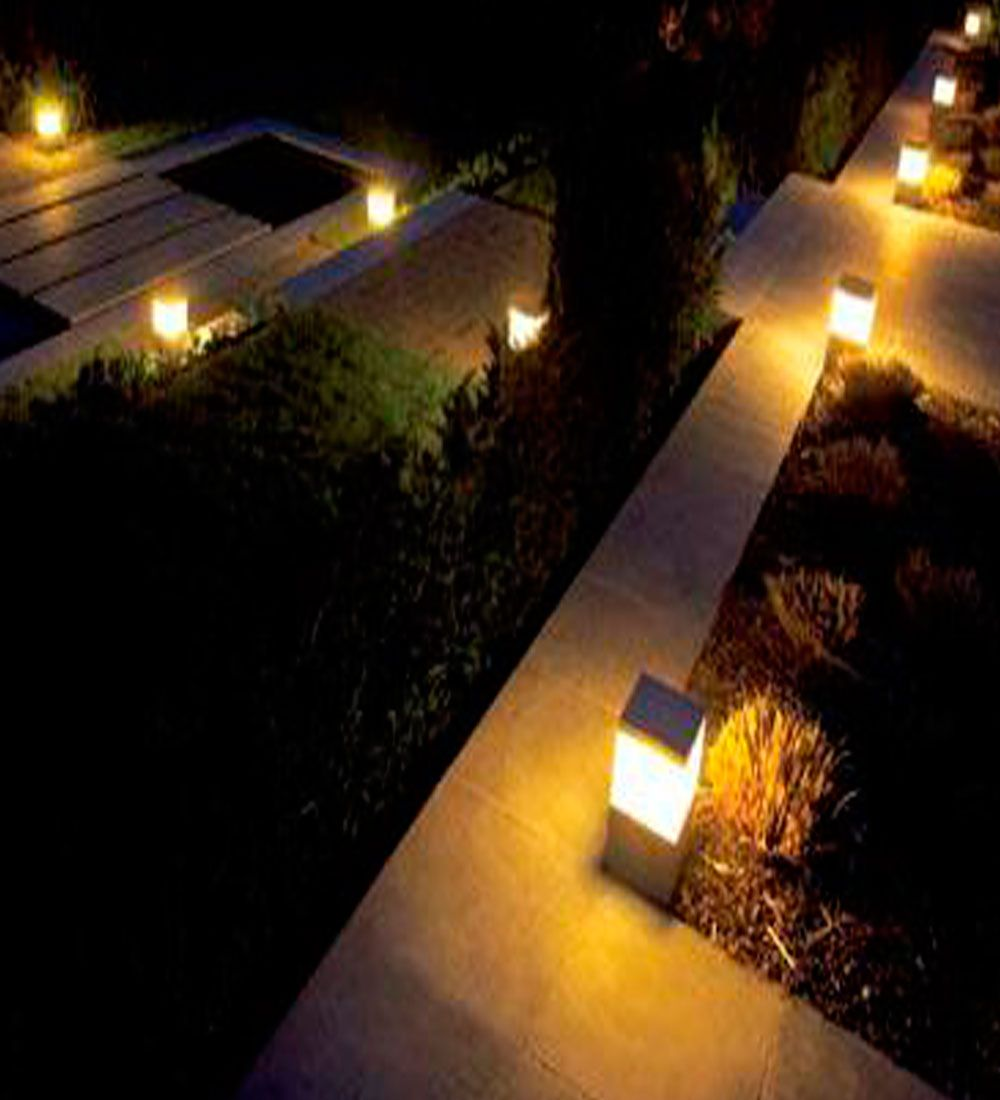 Iluminaci n para exteriores y se hizo la luz for Luminarias para jardines exteriores