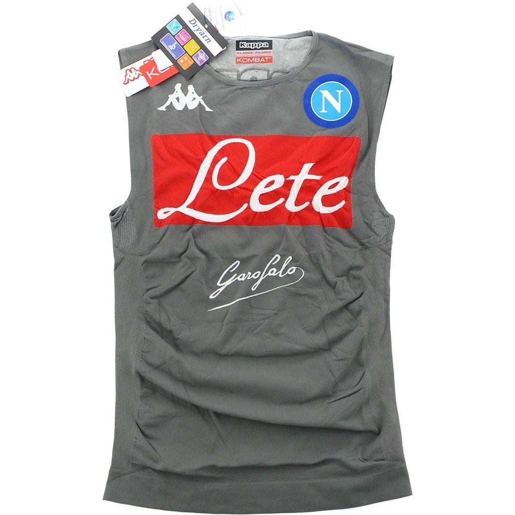 Napoli Calcio Player Issue Compression Away Vest Shirt Soccer Fussball Original Jersey Football Bnwt Top Athletic Tank Tops Vest Shirt Tops