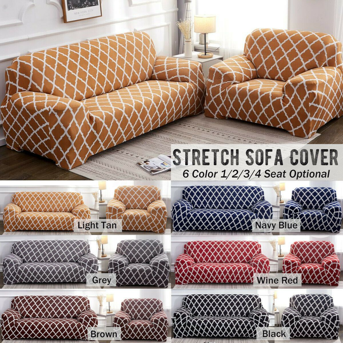 Sofa Cover Chair Covers Couch Slipcover Stretch Fabric Protector Seater Pad Mat Sofa Slipcover Couch Covers Slipcovers Slip Covers Couch Ektorp Sofa Cover