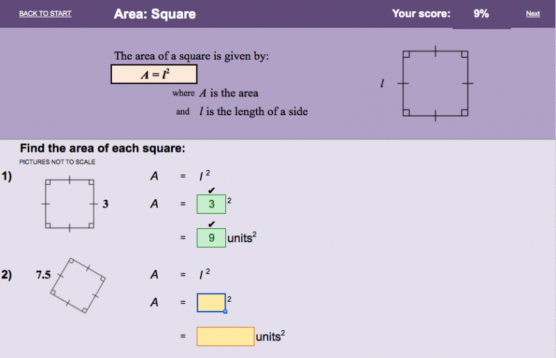 Area - electronic worksheet | Worksheets, Math resources ...