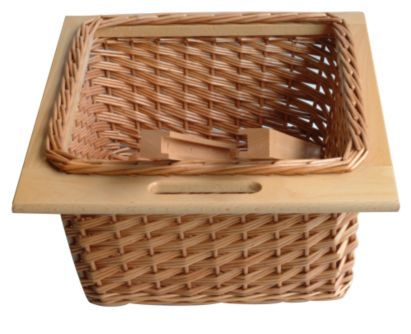 It Kitchens Pull Out Wicker Basket Drawer Beech Effect