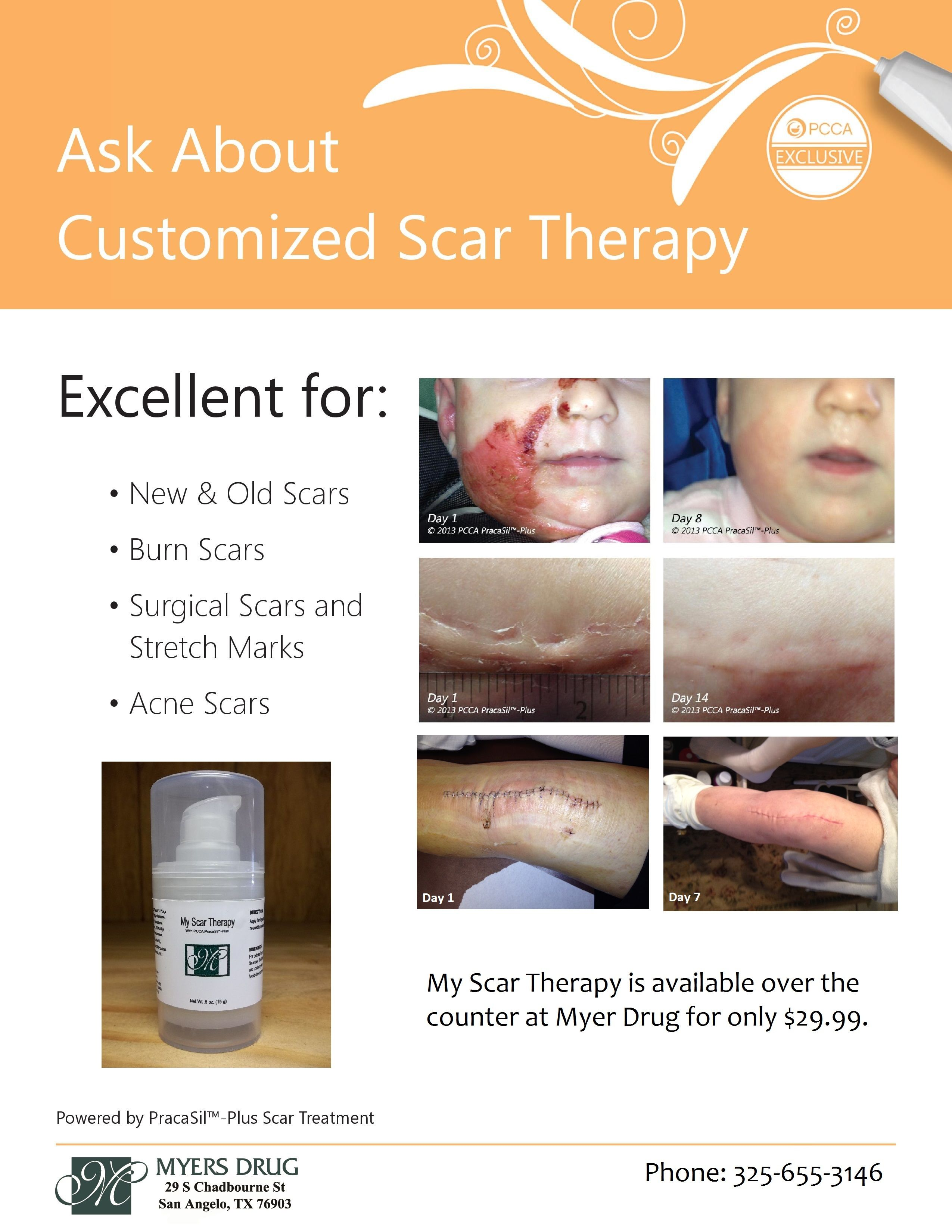 My Scar Therapy with PracaSil Plus is now available at Myers Drug