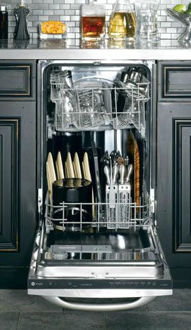 Low Water Usage Built In Dishwasher. For Small Apartment Type Places. Nice Ideas