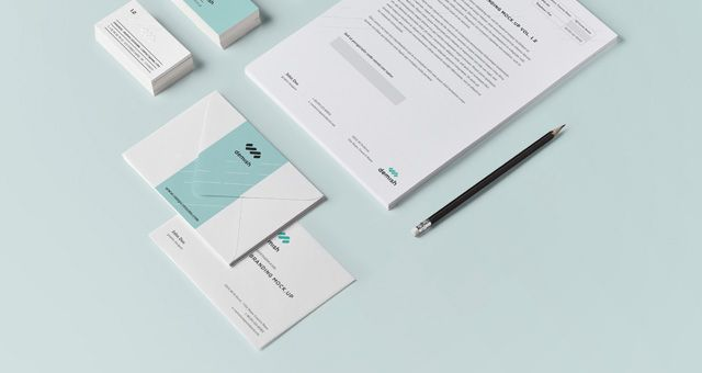 stationery branding mock up vol 1.2, #branding, #business_card, Powerpoint templates