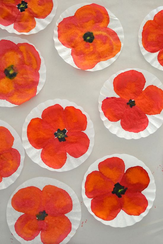 Diy Poppy Art Mohnblumen Kunst Kunst Fur Kinder Blumenhandwerk