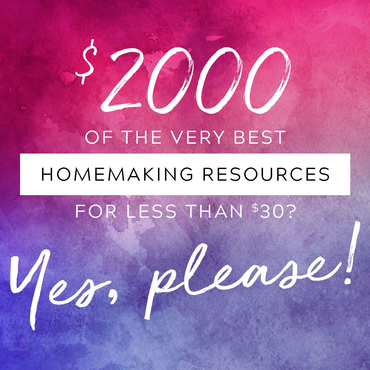 Ultimate Homemaking Bundle Flash Sale Tools October 23 25th ONLY