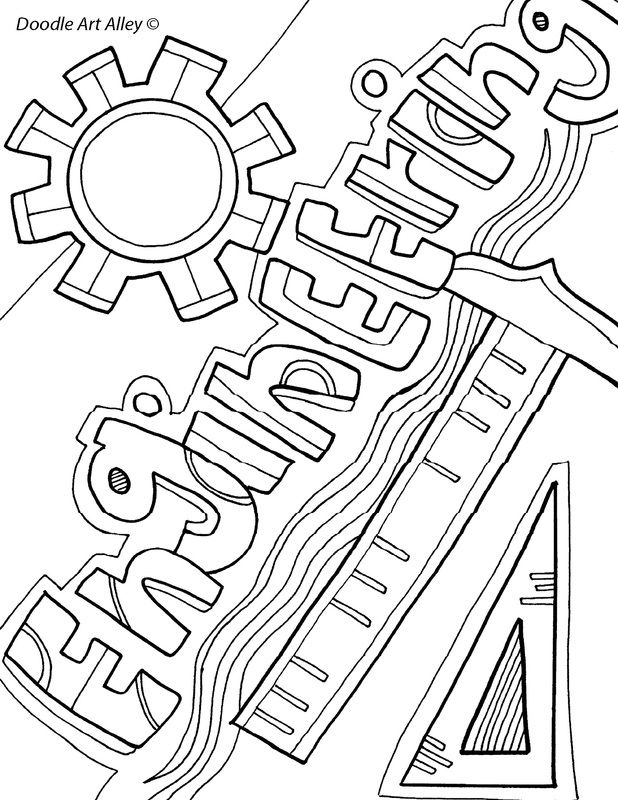 stem coloring pages Free, printable Subject Cover Pages Coloring Pages for your  stem coloring pages