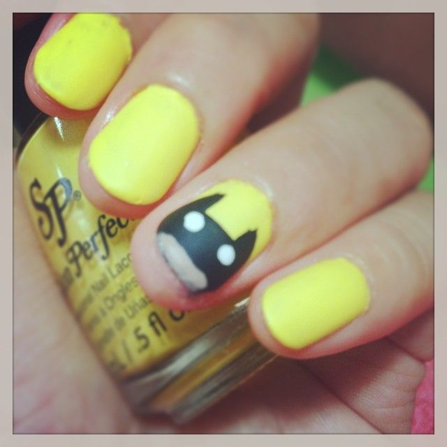 Nananana...Batman! :D My newly polished matte nails. ♥