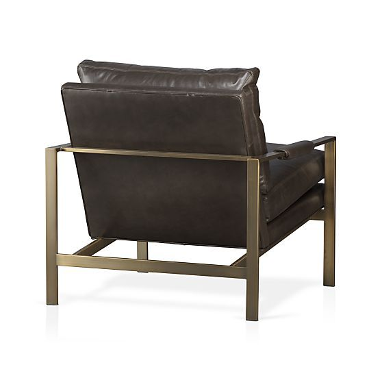 Groovy Milo Classic Leather Bronze Lounge Chair In Mid Century Ocoug Best Dining Table And Chair Ideas Images Ocougorg
