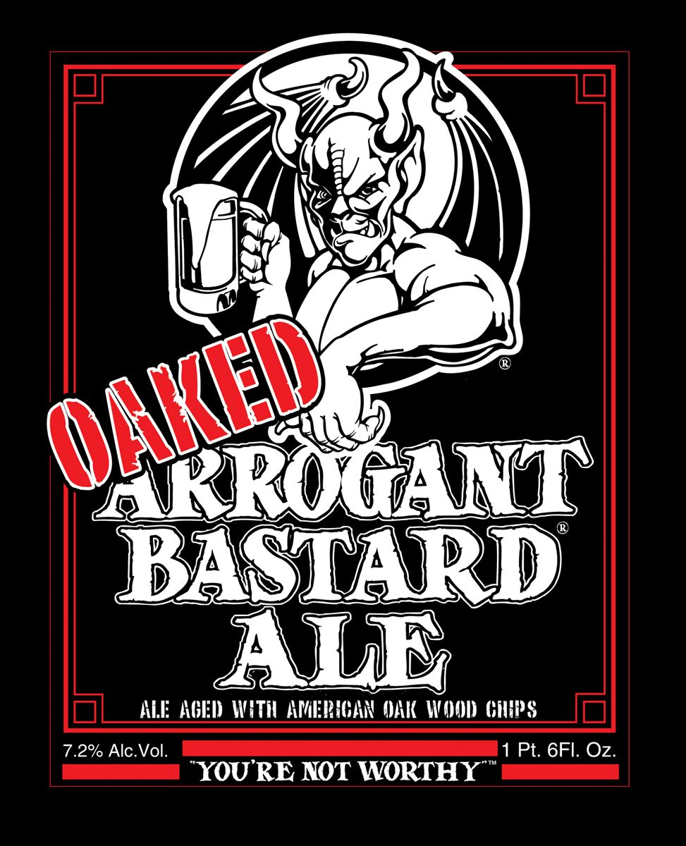 """STONE ARROGANT BASTARD ALE Blak Logo 6/"""" STICKER decal craft beer brewing brewery"""