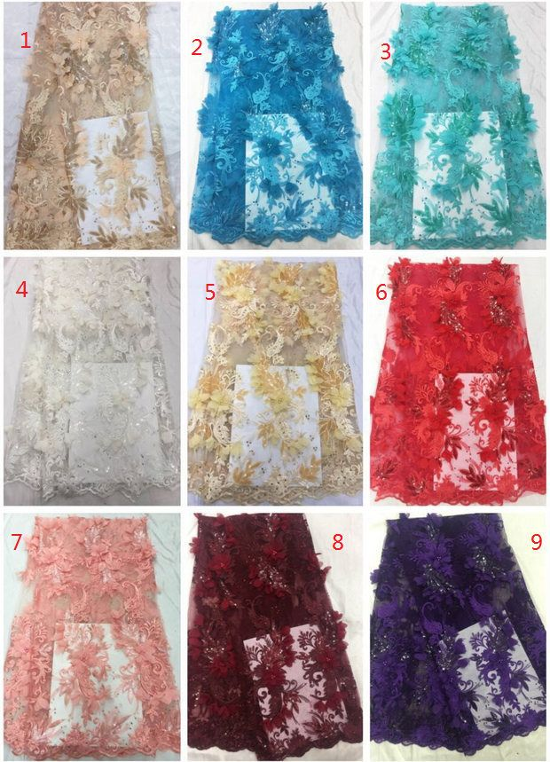 Metallic ROSE PETAL FLOWER Cotton Silk EMBROIDERED LACE TRIMS 0.5m IN 4 COLOURS