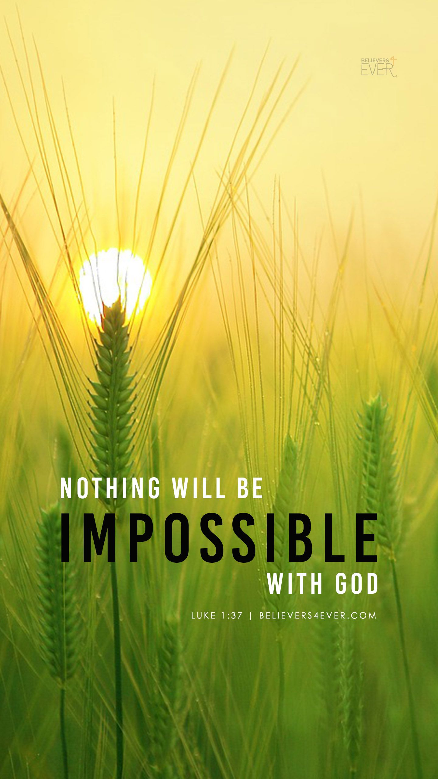 Nothing Will Be Impossible With God Iphone Wallpaper